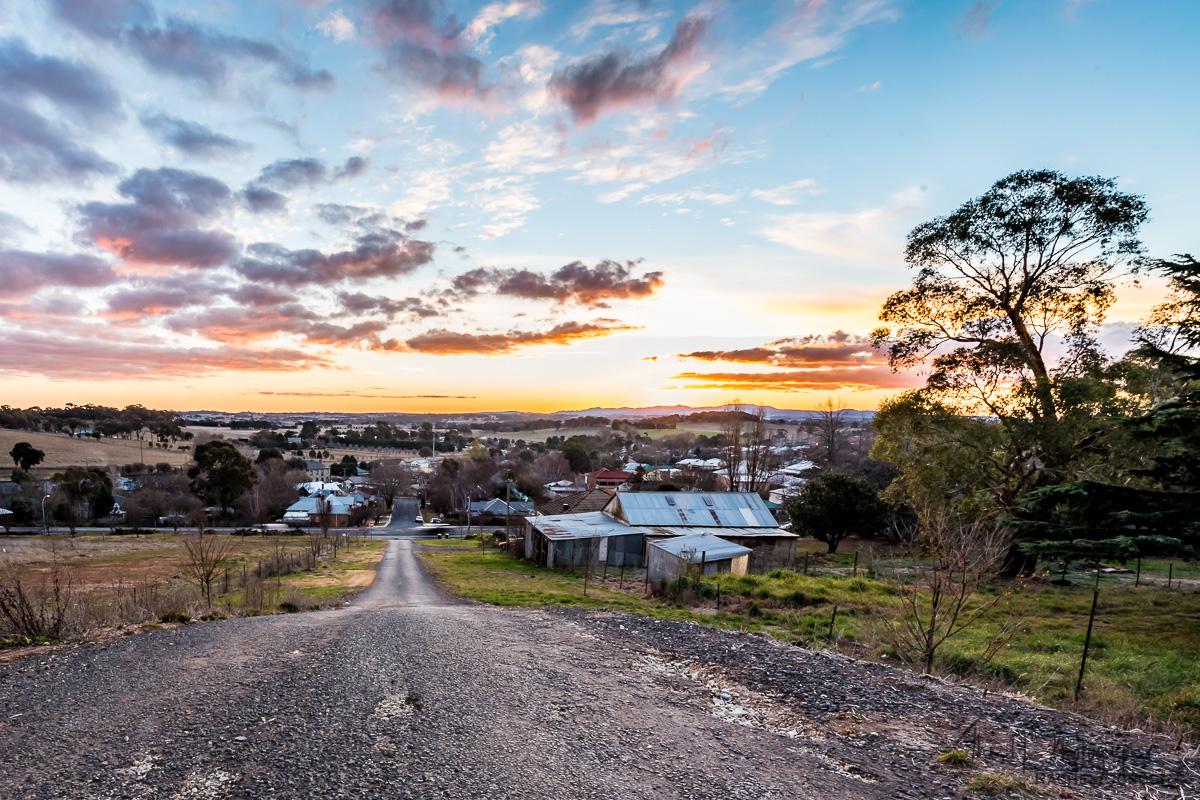 Millthorpe, NSW at sunset
