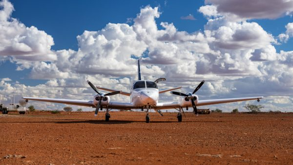 Cessna Titan on an outback airstrip